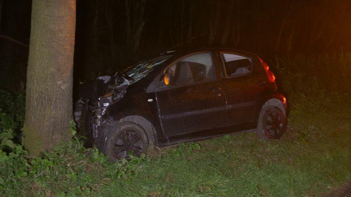 De man raakte bij het ongeluk gewond.