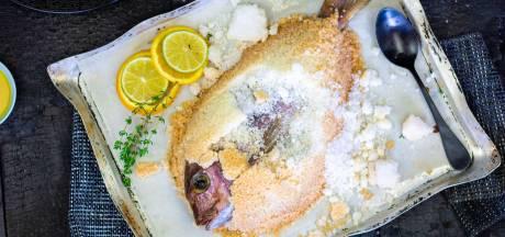 Wat Eten We Vandaag: Dorade in zoutkorst met zoete aardappel