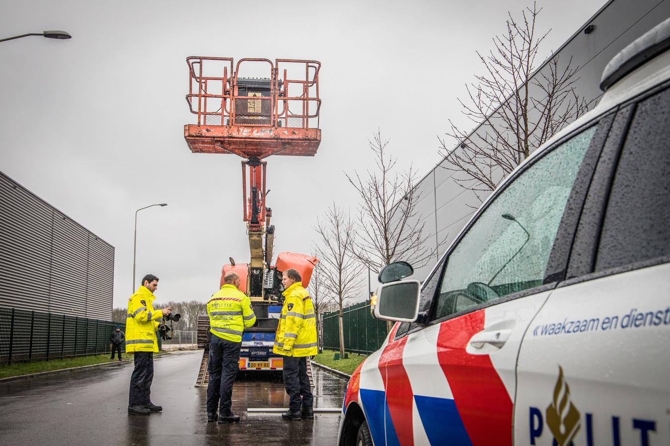 Dodelijk bedrijfsongeval met een hoogwerker op industrieterrein Bijsterhuizen in Wijchen