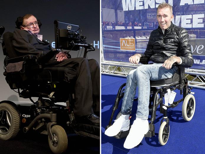 Stephen Hawking (l) en Fernando Ricksen.