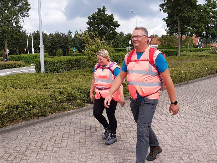 Wim Pauwels en Vanessa van de Velde lopen honderd kilometer in 24 uur.