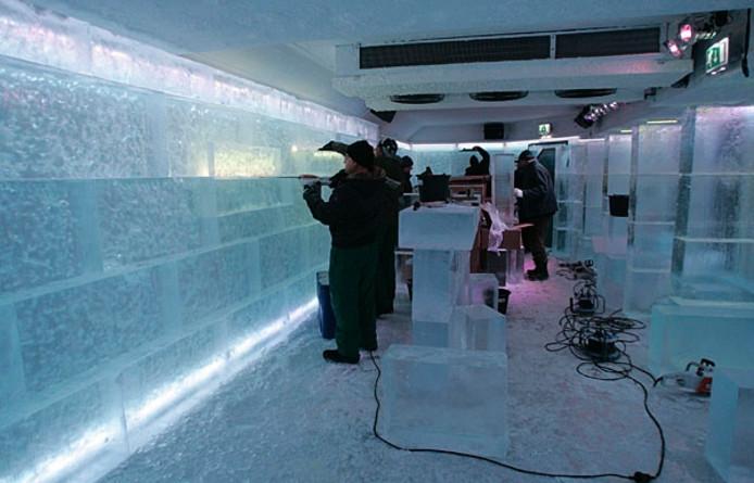 De ijsbar in de Drie Gezusters. Foto Irene Wouters