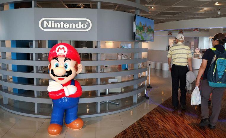 Super Mario in een winkel in Tokyo. Beeld afp