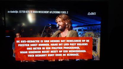 TV-zender knipt lied over circulatieplan uit programma
