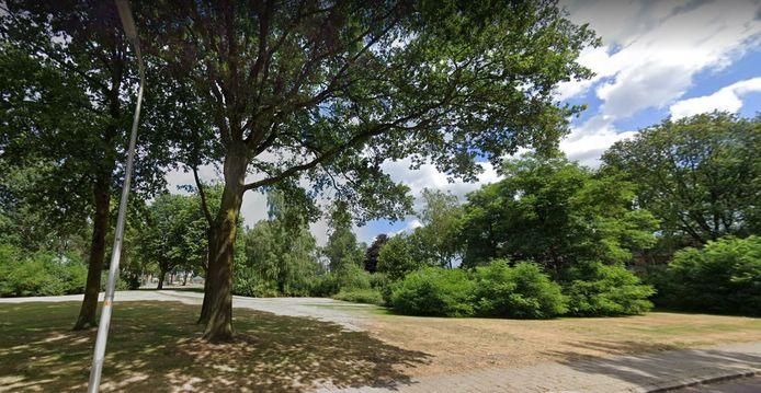 De groene lob van Plan Zuid gezien vanaf de Vincent van Goghstraat.