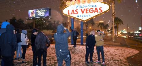 LA en Las Vegas van de leg: 'Ja mensen, dit is sneeuw, geen paniek'