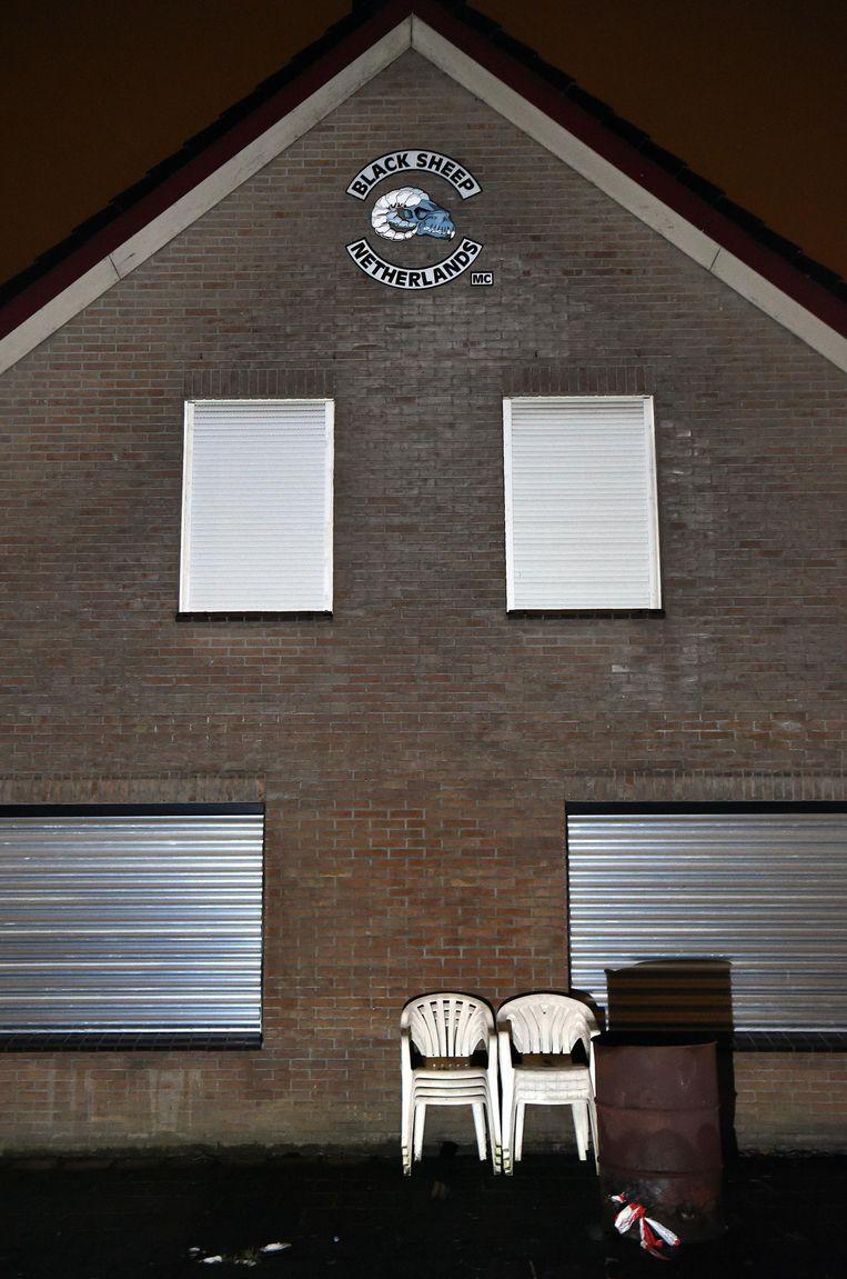 Motorclub Black Sheep in Ede. Beeld Marcel van den Bergh / de Volkskrant