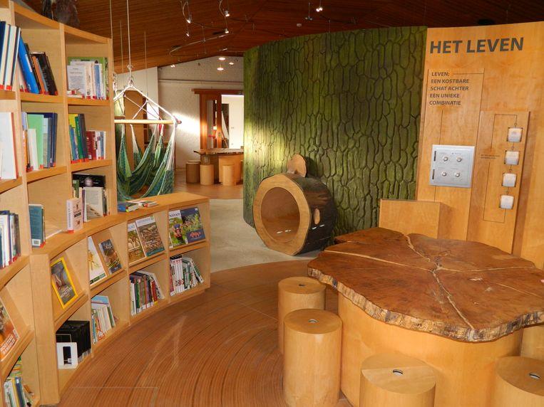 Het Bosinfocentrum is binnenin heel interactief.