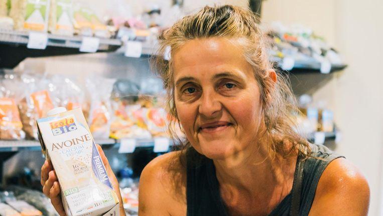 Katrin Brockmüller (53): 'Ik weet wat ik kan verwachten' (haverdrank Isola Bio Avoine). Beeld Marcel Wogram