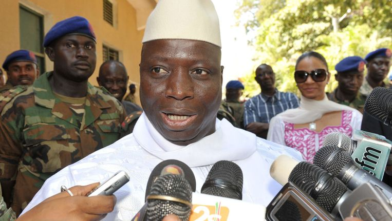 President Yahya Jammeh. Beeld epa