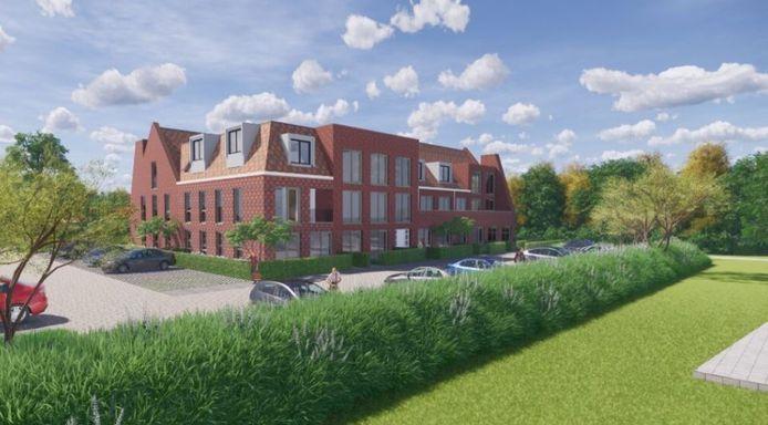 Impressie van de nieuwe appartementen op het werkeiland in Lelystad-Haven.