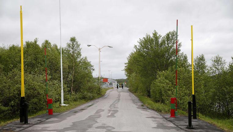 De grenspost van Storskog tussen Rusland en Noorwegen.