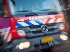 Brand bij café Van Der Werff in Leiden