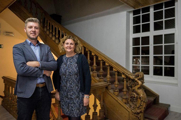 Het directieteam van De Keiwijzer': Kristof Christiaen en Angelique Clauw.