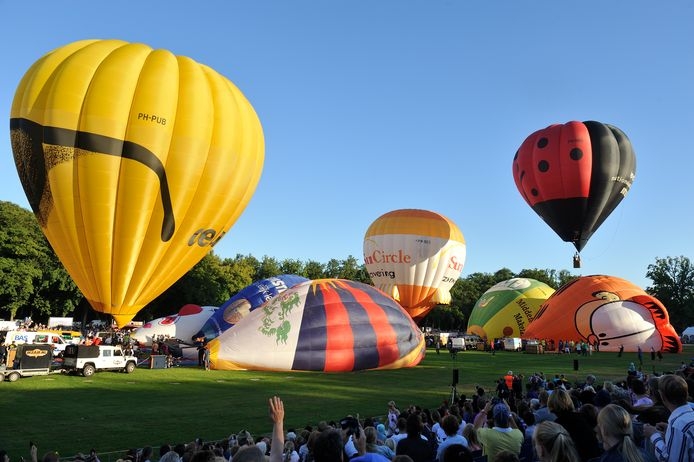 Luchtballonnen bij de ballonfiesta in Barneveld in 2016.