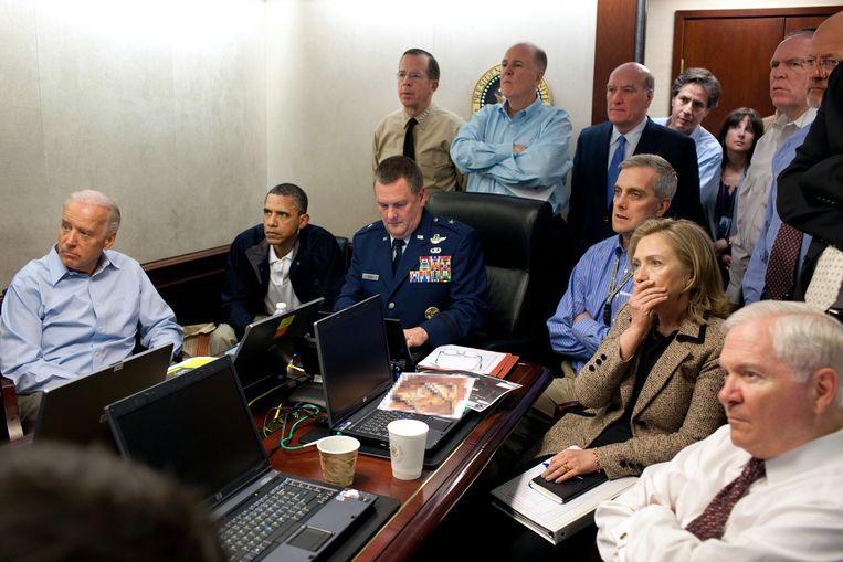 De foto die Souza nam op de avond waarop Osama bin Laden werd gedood in Pakistan. Beeld AP