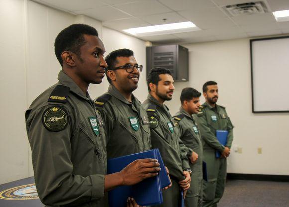 Studenten van de Koninklijke Saudische Marine op de marinebasis van Pensacola, Florida (archiefbeeld).