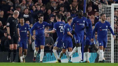 VIDEO: Hazard redt Chelsea met geniale hak, dolle taferelen bij tweedeklasser die Man United in absoluut slot verslaat