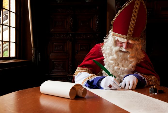 Sinterklaas schrijft een gedicht