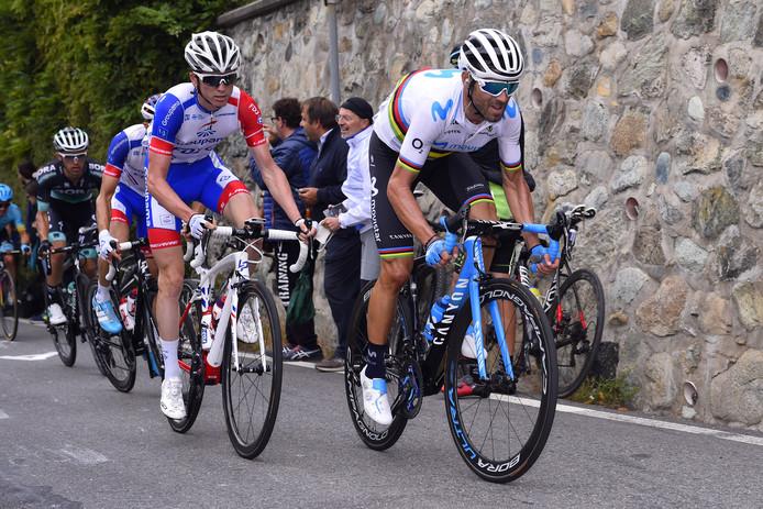 Alejandro Valverde (rechts) en David Gaudu (links) zijn de parels uit de ploeg van dagwinnaar Theo Stamsnieder uit Almelo.