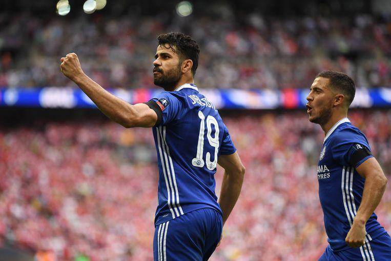 Diego Costa scoorde de gelijkmaker zaterdag op Wembley in de FA Cup finale, maar dat volstond niet voor Chelsea.