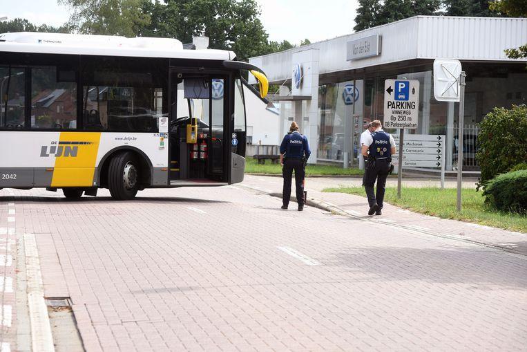 Ongeval met lijnbus en motorrijder in Tremelo.