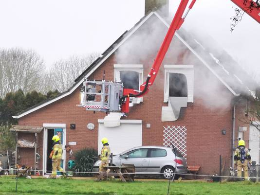 Woningbrand in Duiven.