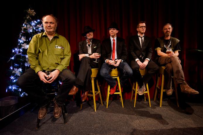 Harrie Verkerk (uiterst links) tijdens de nachtburgemeester-verkiezing in 2015.