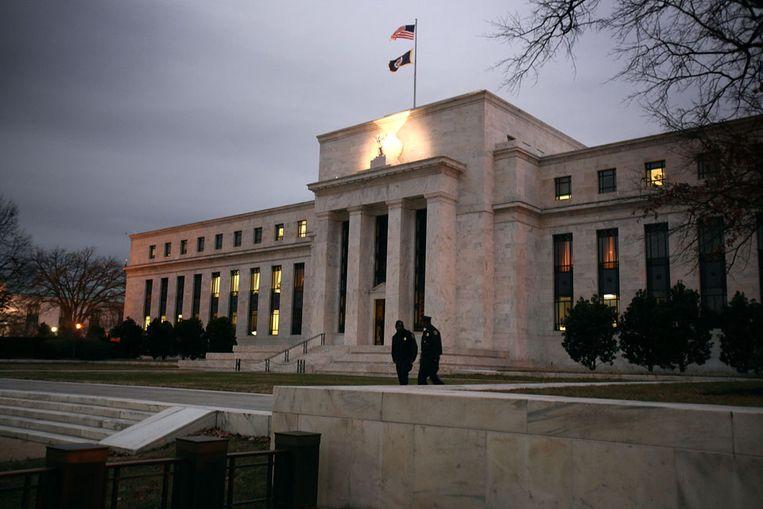 Het gebouw van de Federal Reserve in Washington. (AFP) Beeld