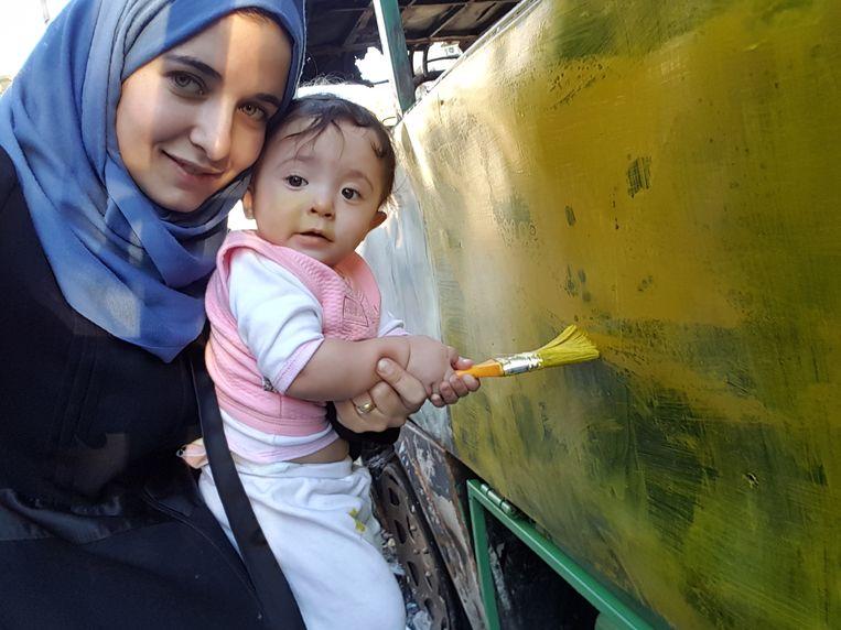 Waad Al-Kateab en Sama.