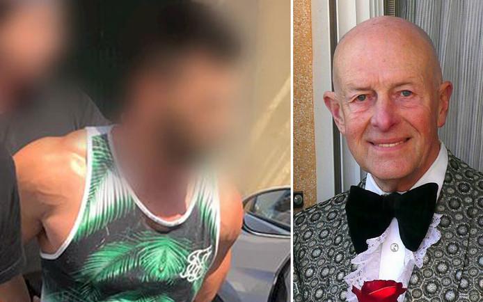 De 29-jarige verdachte (links) van de moord op de gepensioneerde Vlaming Daniël Pax (77).