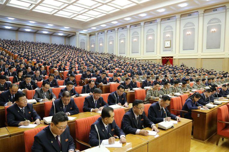 De top van de Koreaanse Arbeiderspartij kwam op 29 december bijeen in hoofdstad Pyongyang.