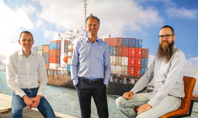 De drie oprichters van HelloContainer. Vlnr: Jos de Jonge, Kees Koopman en Ad de Wit.