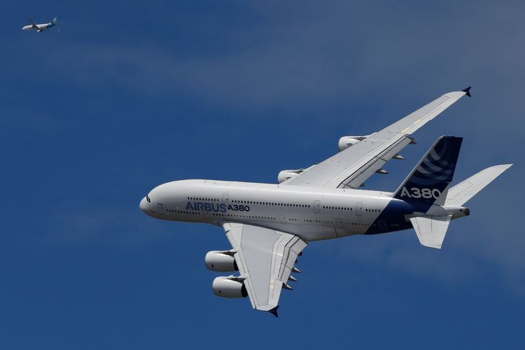 De dubbeldeks Airbus A380 werd geen succesnummer. Beeld Reuters