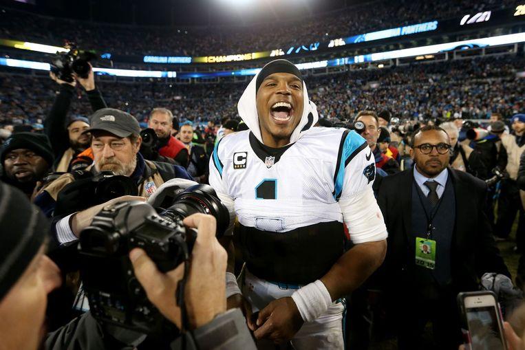Quarterback Cam Newton van de Carolina Panthers. Beeld afp