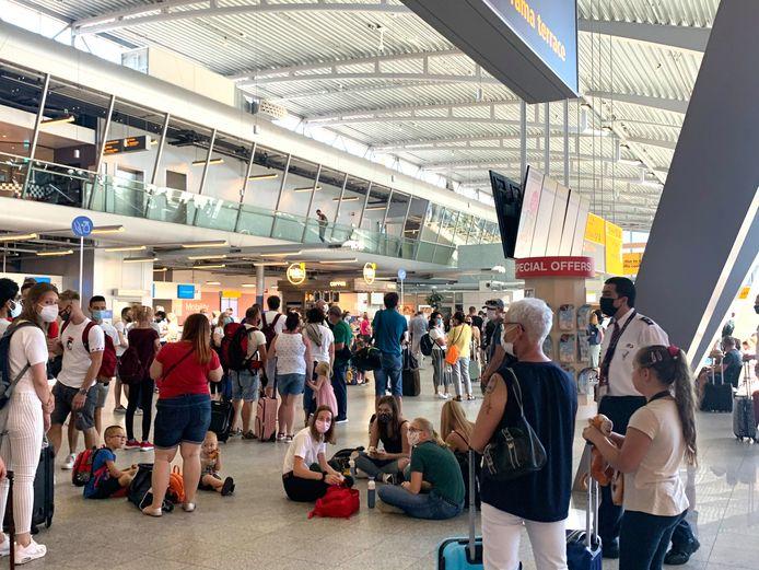 Drukte op de luchthaven Eindhoven Airport.
