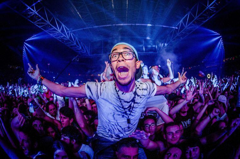 Publiek tijdens de DJ Mag show op het Amsterdam Dance Event (ADE). Beeld anp
