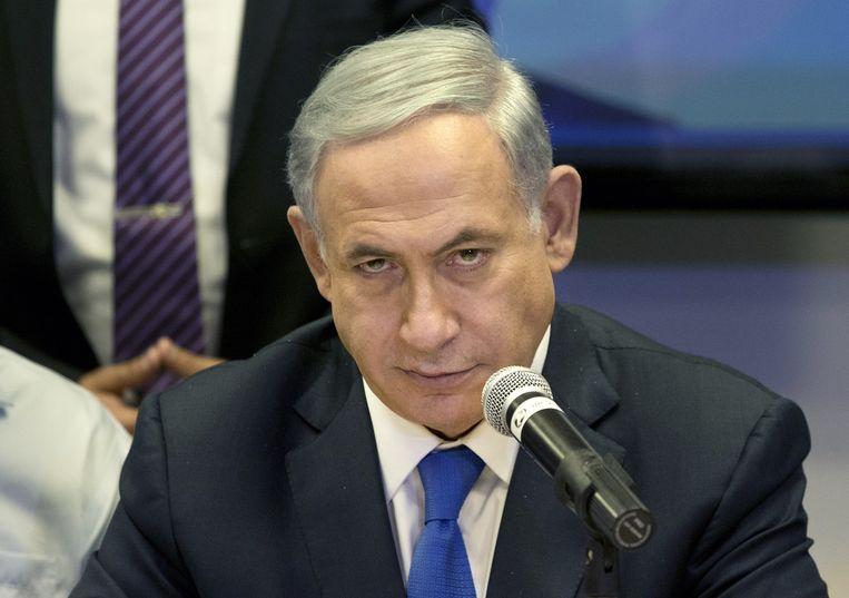 Als Netanyahu wint zal de staat in verhoogd tempo een exclusief joods karakter krijgen Beeld ap