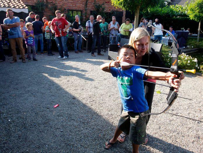 De schieting tijdens de Bamisfeesten van 2014.