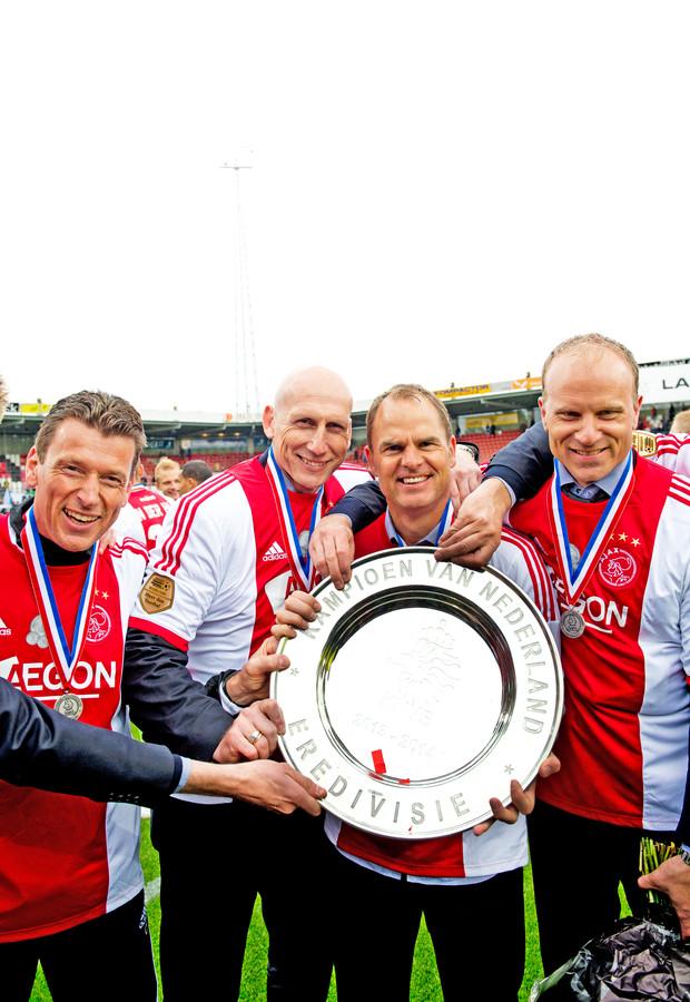 Op 27 april 2014 werd Ajax voor de vierde keer op rij kampioen onder hoofdtrainer Frank de Boer. Zijn oud-teamgenoten Jaap Stam en Dennis Bergkamp waren dat jaar zijn assistenten.