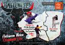 Met deze poster vraagt Oss aandacht voor de drie grote evenementen tijdens Halloween in de regio.