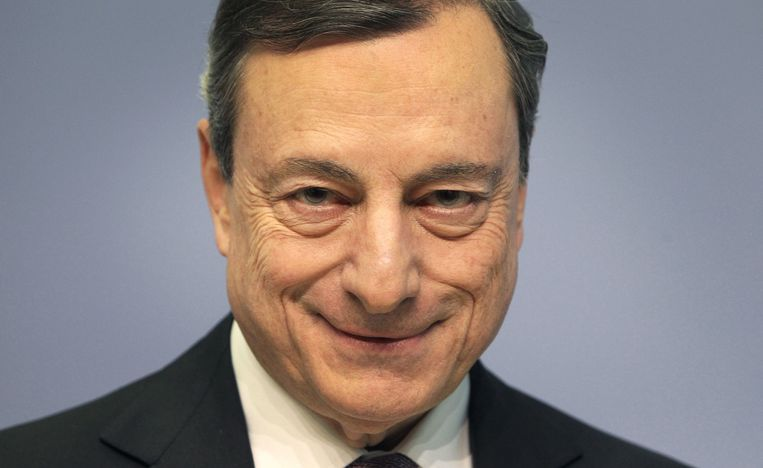 Mario Draghi in maart 2018. Beeld null