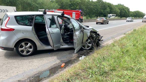 E40 in Loppem tijdlang versperd door ongeval