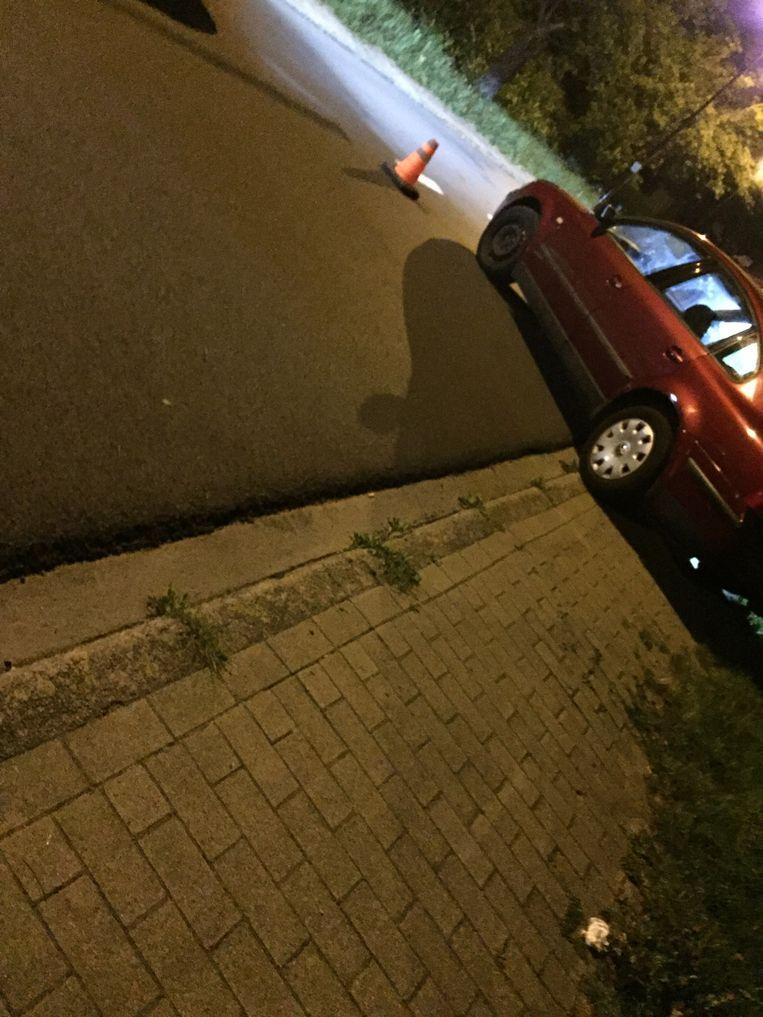 De auto van de verdachten in de Ransberg.