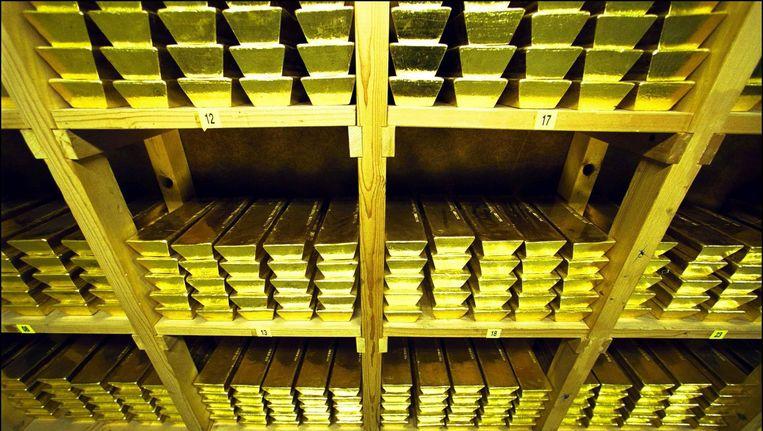Schöne Edelmetaal werd in 1739 opgericht door Gerrit Schöne. De goudstaven op de foto zijn niet gefabriceerd door Schöne. Beeld ANP