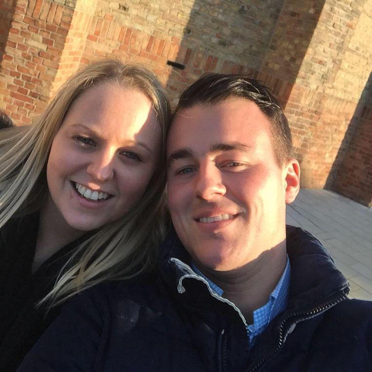 Matthias Vuylsteke, het slachtoffer van de dodelijke brand bij Pouleyn, en zijn vriendin Alicia Waelkens.