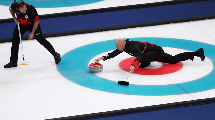 Curling op de Olympische Spelen.