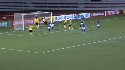 Niet enkel Maradona belazerde de boel: Filipijn bootst 'Hand van God-goal' exact  na
