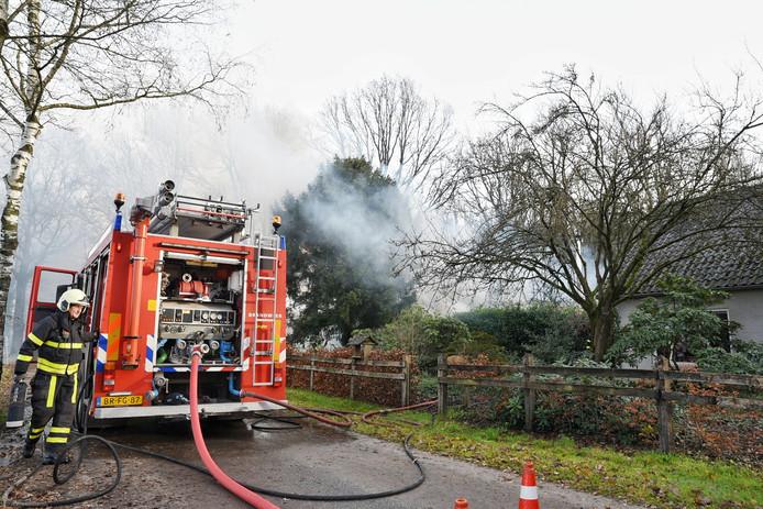 Brandweer aan het werk in Diessen.