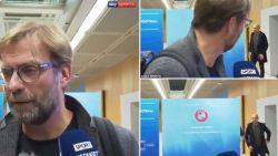 """Klopp neemt plots de benen tijdens interview: """"Guardiola komt eraan!"""""""